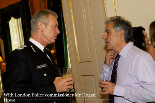 With police commissioner Mr Bernard Hogan-How